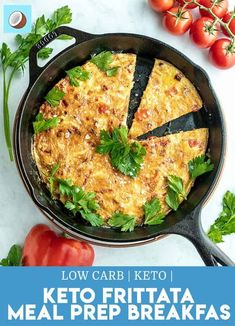 This keto frittata recipe is a classic, well-rounded keto breakfast option, or a delicious meal prep recipe to have for the entire week. With only 3 net carbs per serving, this is just what youve been searching for. #ketomealprep #ketobreakfast via @fatforweightlos