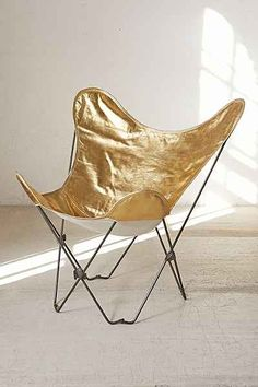 Plum & Bow Gold Butterfly Chair Cover - Urban Outfitters