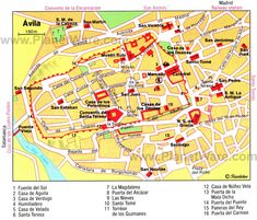 Spain Salamanca Map Tourist Attractions Europe travel