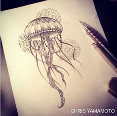 Nice Jellyfish Tattoo Designs The Effective Pictures We Offer You About Sealife Drawing ideas A Jellyfish Drawing, Jellyfish Painting, Jellyfish Tattoo, Octopus Tattoos, Watercolor Jellyfish, Jellyfish Quotes, Jellyfish Aquarium, Tattoo Watercolor, Jellyfish Light