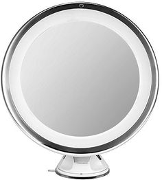 Lighted Makeup Mirror Oak Leaf Adjustable 360 Degree Rotating LED Magnifying Lighted Mirror with 7X Maginification and Suction Cup