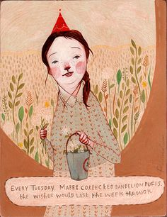 ~ the wishes would last the week through ~ Illustrator Rebecca Green