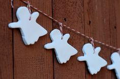 Glowing Clay Ghost Garland
