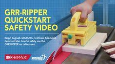 MICROJIG GRR-RIPPER QUICKSTART SAFETY VIDEO