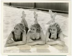 Blonde Art Deco Bathing Beauties Vintage 1932 Pre-Code Pin-Up Photograph