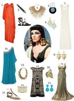 nice outfit builder for Cleopatra costume