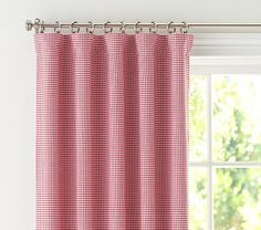 """Gingham Blackout Panel, 63"""", Red #PotteryBarnKids"""