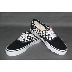Vans Shoes 2-Tone Black White Checkerboard Classic Canvas Sneakers 24e8f8225