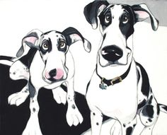 artist- georg williams   specializes in pet caricatures.  i soooo want to have my puppies pictures made.  too cute!!!