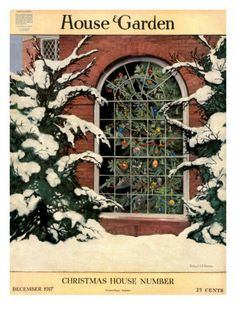 House & Garden Cover - December 1917 Ethel Franklin Betts
