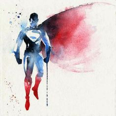 Superheroes Beautiful Watercolor - French illustrator Blule, based in Australia, creates some amazing water colors in tribute to superheroes. ‪#‎art‬ ‪#‎painting‬ ‪#‎illustration‬