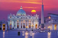 Roma - Rome is a 1500 piece jigsaw puzzle from Clementoni. Puzzle measures approximately x x cm) when complete. Basilica San Pedro, Oh The Places You'll Go, Places To Travel, Rome At Night, Hotel Rome, Jigsaw, Voyage Rome, Saint Peter Square, St Peters Basilica