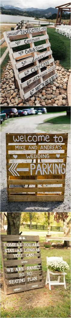 rustic wedding signs with wood pallets