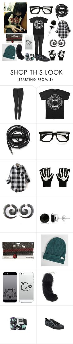 """""""male version of me"""" by newmotionlessjinxxgamer ❤ liked on Polyvore featuring Topshop, Urbanears, Allurez and Neff"""
