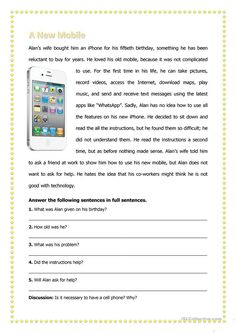 How Cell Phones Are Made The Effective Pictures We Offer You About Reading Comprehension elementary A quality picture can tell you many things. You can find the most beautiful pictures that Mini Reading, Reading Test, 3rd Grade Reading, English Reading, Reading Response, Third Grade, Reading Comprehension Ks1, Comprehension Exercises, Reading Passages