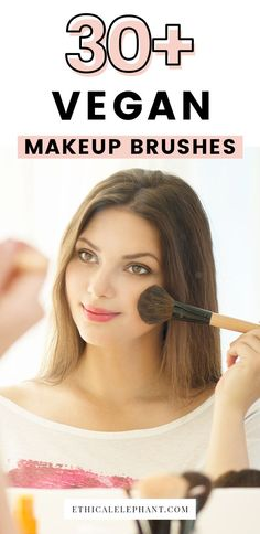Cruelty-free and vegan makeup brushes. Synthetic bristles brushes where no animals are ever harmed!