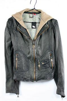 Doma black sheepskin lined leather Jacket