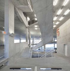 Modern architecture and parking in style  1111 Lincoln Road mixed use development by Herzog and de Meuron in Miami captured by the camera of...