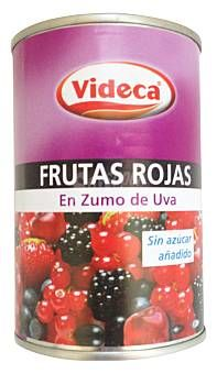Lata Frutas Rojas en Zumo de Uva Videca (Mercadona) - 1 lata escurrida 1,5 puntos. Weights, Healthy Recipes, Sweets, Bread Recipes, Postres, Grape Juice, Juices, Food Items, Products