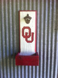 Oklahoma Sooners bottle opener with cap by TreyColeCreations, $37.00