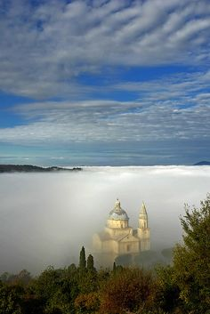 San Biagio in the ocean of mist | San Biagio, Tuscany, Italy by Giuseppe Toscano