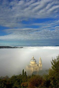 San Biagio in the ocean of mist | San Biagio, Tuscany, Italy by Giuseppe Toscano