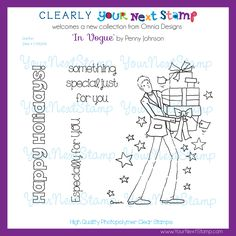 Quinton (clear set) - USD : Your Next Stamp October 2013, Clear Stamps, Vogue, Just For You, Bullet Journal, Happy, Cards, Collection, Ser Feliz