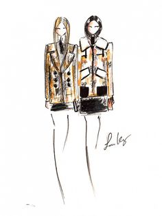 Freehand Illustrations From the Front Lines of Fashion Week via @WhoWhatWear