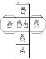 Template of dice with fingers - Subitizing Subitizing Activities, Counting Activities, Preschool Activities, Math Tools, Teaching Tools, Teaching Math, Number Sense Kindergarten, Kindergarten Readiness, Dice Template