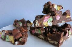 Rocky Road, Pudding, Desserts, Food, Tailgate Desserts, Puddings, Dessert, Postres, Deserts