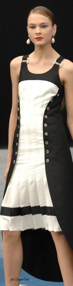 Chanel ~ Black + White dress