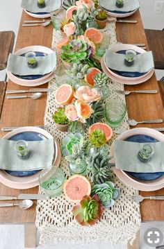 Mother's Day Boho Citrus Tablescape – Kara's Party Ideas .com Mother's Day Boho Citrus Tablescape Kara's Party Ideas Mother's Day Boho Citrus Tablescape Brunch Mesa, Brunch Table Setting, Brunch Decor, Brunch Party Decorations, Summer Table Decorations, Party Decoration Ideas, Bridal Shower Table Decorations, Fall Table Settings, Place Settings