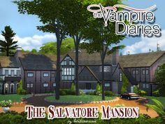 Akisima Sims Blog: The Vampire Diaries – Salvatore Mansion • Sims 4 Downloads