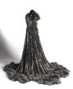 Susie MacMurray- Widow 2009 black nappa leather, 43 kg adamantine dressmakers pins, tailors dummy collection of Manchester Art Gallery Manchester Art, Snow Dress, Colossal Art, Napa Leather, Black Leather, The V&a, Victoria And Albert Museum, Fabric Manipulation, Textile Artists