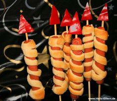 Silvester-Raketen die man essen kann! Hmmmm .... Rezept und Anleitung ...