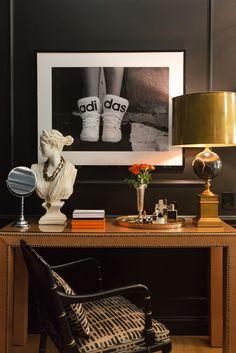 Black classy bedroom