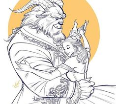 A Bela e a Fera (Artes) Beauty and the Beast (Art)