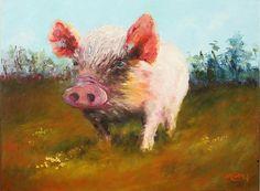 Miss Piggy, Marie Green, Oil on Linen.