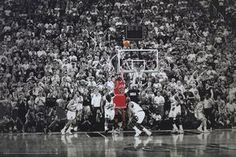 Michael Jordan Title Winning Last Shot Poster