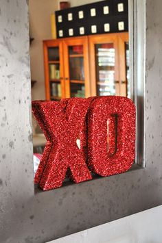 Make Life Lovely: Valentine's Day XO Glitter Letters