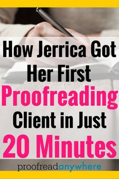 Jerrica literally got her first proofreading client within 20 minutes of starting her marketing process post course completion. Earn Money From Home, Way To Make Money, Marketing Process, Importance Of Time Management, Job Work, Proofreader, Part Time Jobs, Online Jobs, Online Careers