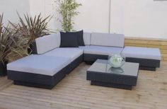 All Weather Rattan Outdoor Garden Furniture Corner Sofa Set in Black Rattan Rattan Corner Sofa, Corner Sofa Set, Rattan Sofa, Rattan Outdoor Furniture, Patio Furniture Sets, Furniture Design, Outdoor Decor, Indoor, Luxury