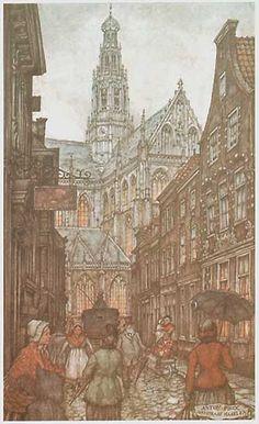De Jansstraat met zicht op de St Bavo, Haarlem