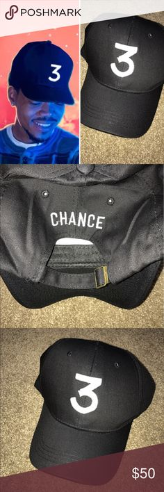 Chance the Rapper 3 hat NWT boutique item. Embroidered 3 on front, & embroidered CHANCE on back. Accessories Hats
