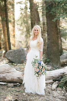 Modest Wedding Dress RENTAL, Lehi Utah Darcy+Riley