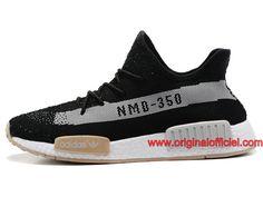 239d979cf97 Homme Femme Officiel Adidas Yeezy 350 V2 NMD Chaussures Officiel Adidas Pas  Cher Noir Blanc