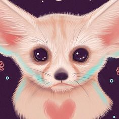 Fennec Fox Art Print / cute fox wall art, planner, art print, gothic art home decor, planner illustration – Baak Turn Animals Cute Wild Animals, Cute Kawaii Animals, Fox Halloween, Halloween Prints, Fox Sketch, Cute Animal Drawings, Art Drawings, Fox Drawing, Fennec Fox