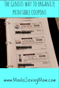 genius idea to organize printable coupons