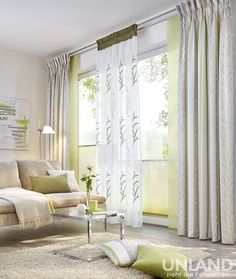 UNLAND Palma_Greenery_001 - Vorhang, Fensterideen, Gardinen und Sonnenschutz - curtains, contract fabrics, pleated blinds, roller blinds and more. Made in Germany