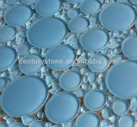Source 3D Wall Blue Glass Tile Round Mosaic on m.alibaba.com Blue Glass Tile, Hickory Kitchen, 3d Wall, Mosaic, Walnut Kitchen, Mosaics, Mosaic Art